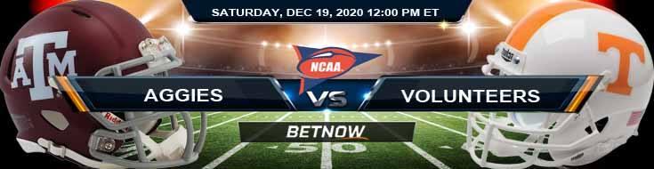 Texas A&M Aggies vs Tennessee Volunteers 12-19-2020 Football Betting Picks & NCAAF Tips
