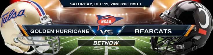 Tulsa Golden Hurricane vs Cincinnati Bearcats 12-19-2020 NCAAF Spread Picks & Previews