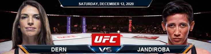 UFC 256 Dern vs Jandiroba 12-12-2020 Analysis Odds and Picks