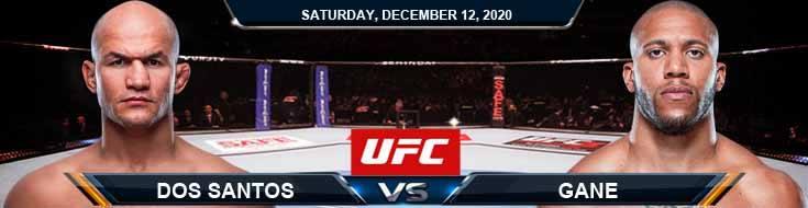 UFC 256 Dos Santos vs Gane 12-12-2020 Predictions Previews and Spread