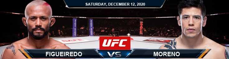 UFC 256 Figueiredo vs Moreno 12-12-2020 Odds Picks and Predictions