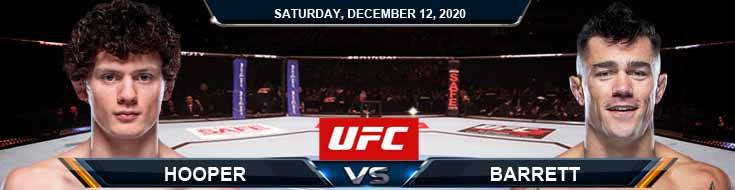 UFC 256 Hooper vs Barrett 12-12-2020 Previews Spread and Fight Analysis