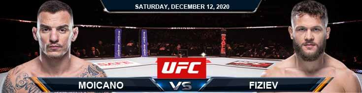 UFC 256 Moicano vs Fiziev 12-12-2020 Previews Spread and Fight Analysis