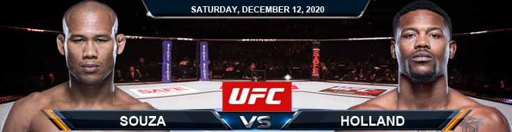 UFC 256 Souza vs Holland 12-12-2020 Spread Fight Anaylsis and Forecast