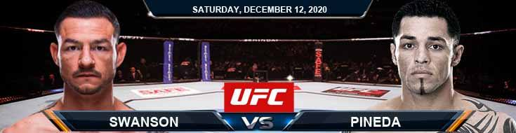 UFC 256 Swanson vs Pineda 12-12-2020 Results Analysis and Odds
