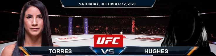 UFC 256 Torres vs Hughes 12-12-2020 Odds Picks and Predictions