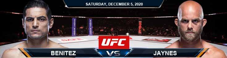 UFC on ESPN 19 Benitez vs Jaynes 12-05-2020 Results Analysis and Odds