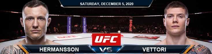 UFC on ESPN 19: Hermansson vs Vettori 12/05/2020 Odds, Picks and Predictions