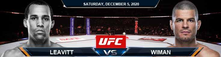 UFC on ESPN 19 Leavitt vs Wiman 12-05-2020 Forecast Tips and Results