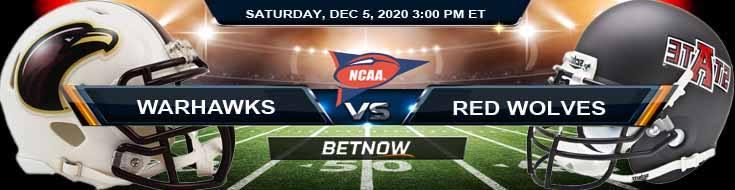 UL Monroe Warhawks vs Arkansas State Red Wolves 12-5-2020 NCAAF Previews Odds & Spread