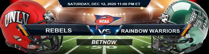 UNLV Rebels vs Hawaii Rainbow Warriors 12-12-2020 NCAAF Odds Previews & Tips