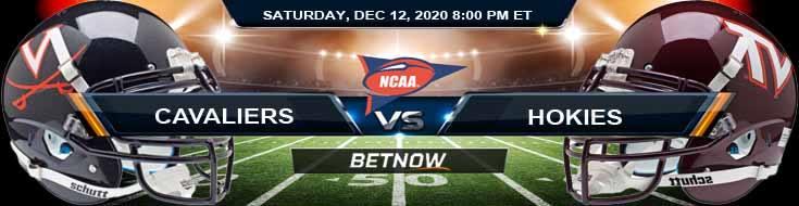 Virginia Cavaliers vs Virginia Tech Hokies 12-12-2020 Previews Spread & NCAAF Odds