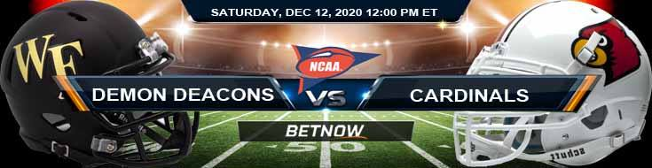 Wake Forest Demon Deacons vs Louisville Cardinals 12-12-2020 Tips NCAAF Odds & Picks