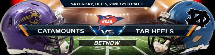 Western Carolina Catamounts vs North Carolina Tar Heels 12-5-2020 NCAAF Results Odds & Predictions