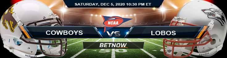 Wyoming Cowboys vs New Mexico Lobos 12-5-2020 NCAAF Odds Picks & Predictions