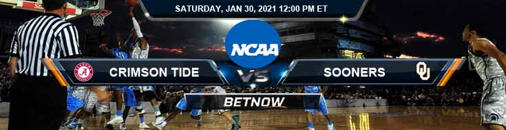 Alabama Crimson Tide vs Oklahoma Sooners 01-30-2021 Basketball Betting Picks & Spread