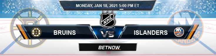 Boston Bruins vs New York Islanders 01-18-2021 Results Hockey Betting and Odds