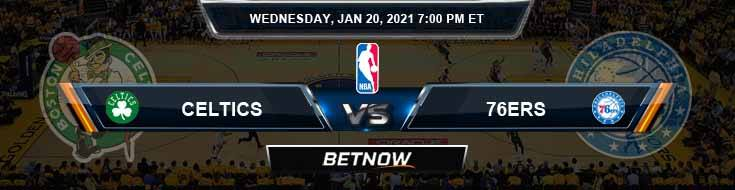 Boston Celtics vs Philadelphia 76ers 1-20-2021 NBA Picks and Previews