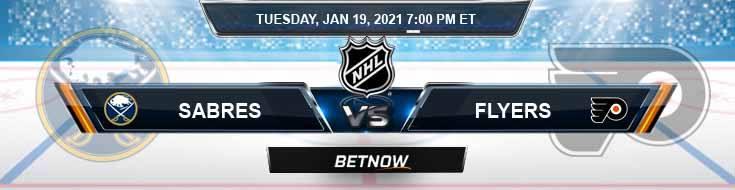 Buffalo Sabres vs Philadelphia Flyers 01-19-2021 Results Hockey Betting and Odds