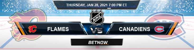 Calgary Flames vs Montreal Canadiens 01-28-2021 NHL Previews Spread and Game Analysis