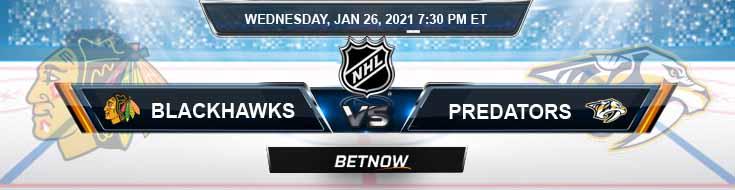 Chicago Blackhawks vs Nashville Predators 01-27-2021 Picks NHL Predictions and Previews