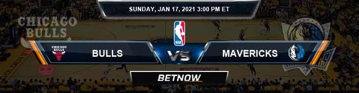 Chicago Bulls vs Dallas Mavericks 1-17-2021 Odds Picks and Previews
