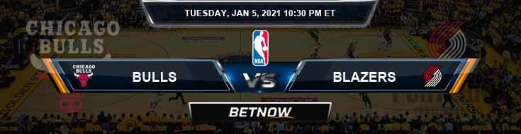 Chicago Bulls vs Portland Trail Blazers 1-5-2021 NBA Picks and Previews