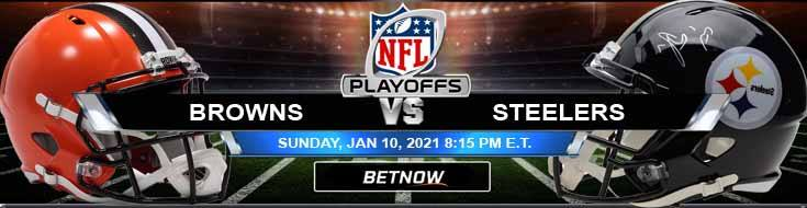 Cleveland Browns vs Pittsburgh Steelers 01/10/2021 AFC Wild Card Playoffs, Odds and Football Betting
