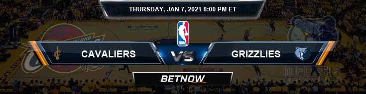 Cleveland Cavaliers vs Memphis Grizzlies 1-7-2021 Odds Picks and Previews