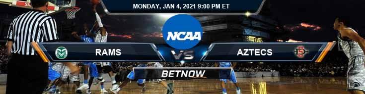Colorado State Rams vs San Diego State Aztecs 01-04-2021 Odds Basketball Betting & Previews