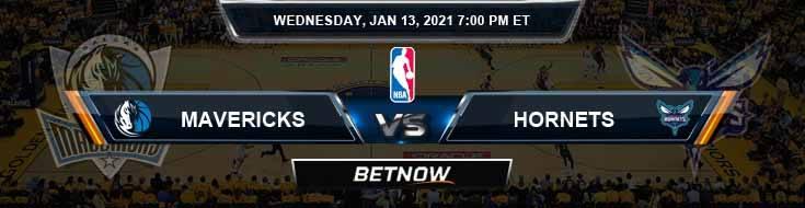 Dallas Mavericks vs Charlotte Hornets 1-13-2021 Odds Picks and Previews