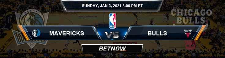 Dallas Mavericks vs Chicago Bulls 1-3-2021 Spread Picks and Previews