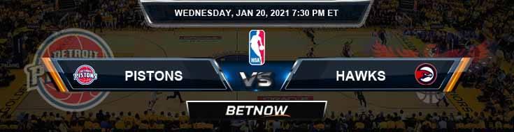 Detroit Pistons vs Atlanta Hawks 1-20-2021 Spread Picks and Prediction