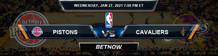 Detroit Pistons vs Cleveland Cavaliers 1-27-2021 Odds Picks and Previews
