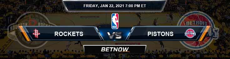 Houston Rockets vs Detroit Pistons 1-22-2021 Odds Picks and Prediction