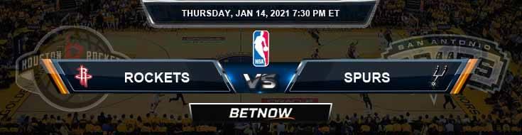 Houston Rockets vs San Antonio Spurs 1-14-2021 Odds Picks and Previews