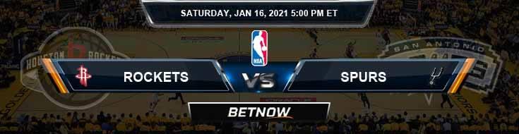 Houston Rockets vs San Antonio Spurs 1-16-2021 NBA Picks and Previews