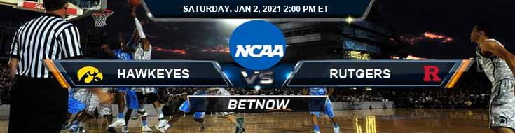 Iowa Hawkeyes vs Rutgers Scarlet Knights 01-02-2021 Previews NCAAB Spread & Game Analysis