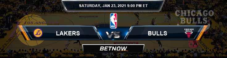 Los Angeles Lakers vs Chicago Bulls 1-23-2021 NBA Picks and Previews