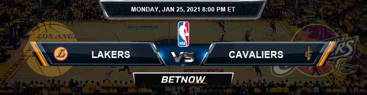 Los Angeles Lakers vs Cleveland Cavaliers 1-25-2021 Spread Odds and Picks