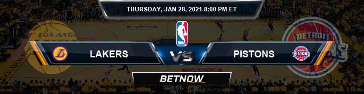 Los Angeles Lakers vs Detroit Pistons 1-28-2021 NBA Picks and Previews