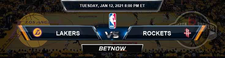 Los Angeles Lakers vs Houston Rockets 1-12-2021 NBA Picks and Previews