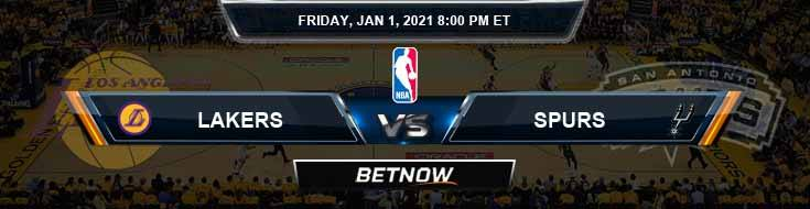 Los Angeles Lakers vs San Antonio Spurs 1-1-2021 NBA Odds and Picks