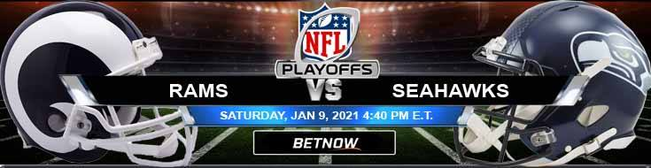 Los Angeles Rams vs Seattle Seahawks 01/09/2021 NFC Wild Card Playoffs, Predictions and Previews