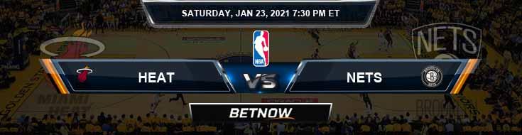 Miami Heat vs Brooklyn Nets 1-23-2021 Odds Picks and Game Analysis