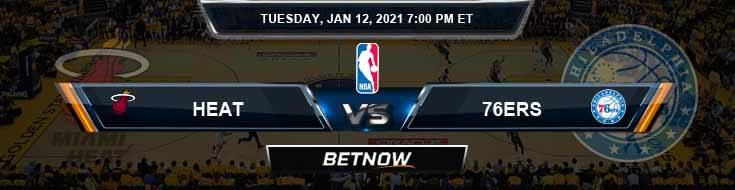 Miami Heat vs Philadelphia 76ers 1-12-2021 Spread Picks and Previews