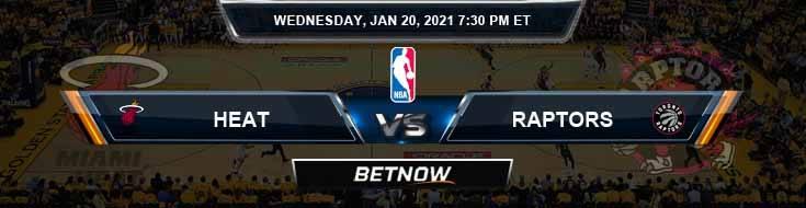 Miami Heat vs Toronto Raptors 1-20-2021 NBA Picks and Game Analysis