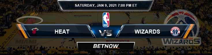 Miami Heat vs Washington Wizards 1-9-2021 Odds Previews and Prediction