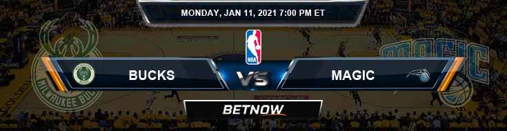 Milwaukee Bucks vs Orlando Magic 1-11-2021 Odds Picks and Previews