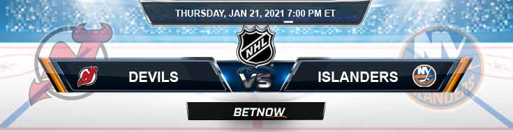 New Jersey Devils vs New York Islanders 01-21-2021 Betting Previews Spread and Game Analysis